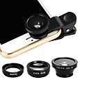 billiga Universella tillbehör-Mobiltelefonlins Fiskögeobjektiv ABS + PC 25 mm 180 ° Objektiv med fodral / Häftig