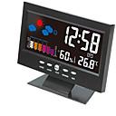 billige Vekkerklokker-elektronisk digital LCD-skjerm klokke temperatur fuktighet monitor klokke termometer hygrometer værvarsel bord klokke