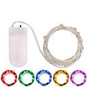 billige LED-stringlys-3M Lysslynger 30 LED SMD 0603 Varm hvit / Hvit / Multifarget Vanntett / Fest / Dekorativ Batterier drevet 1pc