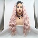 Χαμηλού Κόστους Smart Wristbands-Συνθετικές μπροστινές περούκες δαντέλας Σγουρά Ματ Κούρεμα με φιλάρισμα Δαντέλα Μπροστά Περούκα Ροζ Μακρύ Μαύρο / Ροζ Συνθετικά μαλλιά 24 inch Γυναικεία Πάρτι Γυναικεία Hot Πώληση Ροζ Sylvia