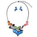 Χαμηλού Κόστους Χωρίς κάλυμμα-Γυναικεία Κουμπωτά Σκουλαρίκια Κρεμαστό Καρδιά Στυλάτο Σκουλαρίκια Κοσμήματα Κόκκινο / Μπλε Για Καθημερινά 1set