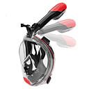 ราคาถูก อุปกรณ์ดำน้ำ-Snorkel Mask Full Face Masks หน้าต่างเดียว - การว่ายน้ำ สำหรับ ผู้ใหญ่ สีดำ