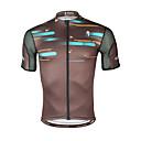 ราคาถูก ภาพวาดแอบสแตรก-ILPALADINO สำหรับผู้ชาย แขนสั้น Cycling Jersey สีน้ำตาล สลับ จักรยาน Tops ขี่จักรยานปีนเขา Road Cycling ทน UV ระบายอากาศ Moisture Wicking กีฬา Elastane Terylene เสื้อผ้าถัก / แห้งเร็ว / ยืด