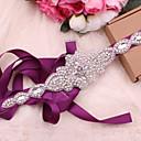 ราคาถูก Fashion Fabric-ซาติน / ตูเล่ งานแต่งงาน / งานปาร์ตี้ / งานราตรี สายสะพาย กับ คริสตัล / พลอยเทียมต่างๆ สำหรับผู้หญิง ผ้าคาดเอว
