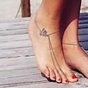 ราคาถูก ถุงเท้าและชุดชั้นใน-สำหรับผู้หญิง Turquoise รองเท้าเท้าเปล่า Leaf Shape ง่าย Hotwife สร้อยข้อเท้า เครื่องประดับ สีเงิน สำหรับ ทุกวัน