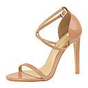 ราคาถูก รองเท้าแตะผู้หญิง-สำหรับผู้หญิง รองเท้าแตะ ส้น Stiletto Synthetics หวาน / minimalism ตก / ฤดูร้อนฤดูใบไม้ผลิ สีดำ / Almond / ขาว / พรรคและเย็น / พรรคและเย็น