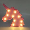 billige Bakeredskap-1pc Unicorn LED Night Light Varm hvit AA batterier drevet Kreativ <5 V