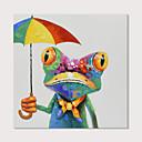 povoljno Apstraktno slikarstvo-Hang oslikana uljanim bojama Ručno oslikana - Pop art Moderna Uključi Unutarnji okvir
