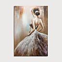 baratos Pinturas Abstratas-Pintura a Óleo Pintados à mão - Abstrato Pessoas Modern Incluir moldura interna