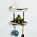 baratos Prateleiras de Banheiro-Prateleira de Banheiro Multicamadas / Novo Design Clássica / Regional Latão 1pç - Banheiro / Banho do hotel Casal (L200 cm x C200 cm) Montagem de Parede