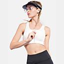 billiga Hundkläder-Dam Sport BH-topp Sportbehåar Sport-bh i pulloverstil Elastan Yoga Gym träning Andningsfunktion Snabb tork Svettavvisande Vadderad Medium stöd Dragkedja fram Svart Vit Rand
