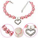 billiga Kragar, selar och koppel-Hund Halsband Justerbar storlek Dekorativ Färgblock Hjärta Legering Purpur Blå Rosa