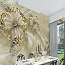cheap Wall Murals-Wallpaper / Mural / Wall Cloth Canvas Wall Covering - Adhesive required Art Deco / Pattern / 3D