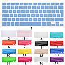 billige Dusjforheng-europeisk versjon engelsk språk silisium tastaturdeksel for macbook air 11 '' / macbook air 13 '' / macbook pro 13 '' engelsk / macbook pro 15 '' / macbook pro 13 '' pro 15 '' med netthinnevisning