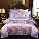お買い得  フローラルデベットカバー-布団カバーセット 花 / 植物 コットン ジャカード織 4個Bedding Sets