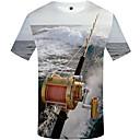 Χαμηλού Κόστους Wall Ταπετσαρίες-Ανδρικά Μεγάλα Μεγέθη T-shirt 3D Στρογγυλή Λαιμόκοψη Στάμπα Ουράνιο Τόξο XL