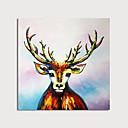 povoljno Apstraktno slikarstvo-Hang oslikana uljanim bojama Ručno oslikana - Sažetak Životinje Moderna Uključi Unutarnji okvir