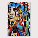 billige Innrammet kunst-Hang malte oljemaleri Håndmalte - Mennesker Moderne Inkluder indre ramme