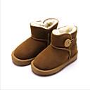 זול מגפיים לילדים-בנות מגפי שלג סוויד מגפיים חום / ורוד / שקד חורף