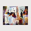 billige Abstrakte malerier-Hang malte oljemaleri Håndmalte - Abstrakt Mennesker Moderne Inkluder indre ramme