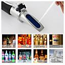 billige Målere og detektorer-refraktometer alkohol alkoholometer meter 0 ~ 80% v / v atc håndholdt verktøy hydrometer rz116 konsentrasjon sprit tester vin