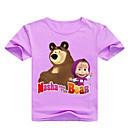 Χαμηλού Κόστους Μπλουζάκια για κορίτσια-Παιδιά Νήπιο Κοριτσίστικα Βασικό Στάμπα Στάμπα Κοντομάνικο Βαμβάκι Κοντομάνικο Ανθισμένο Ροζ