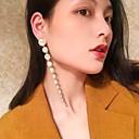 ราคาถูก ก๊อกน้ำห้องครัว-สำหรับผู้หญิง คริสตัล Drop Earrings ต่างหูห้อย คลาสสิค เกี่ยวกับยุโรป อินเทรนด์ แฟชั่น ที่ทันสมัย ต่างหู เครื่องประดับ สีเงิน สำหรับ ทุกวัน Street ทำงาน คลับ บาร์ 1 คู่