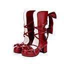 ราคาถูก แว่นตาดำน้ำ-สำหรับผู้หญิง รองเท้า Sweet Lolita Princess Lolita หนา Heel รองเท้า การทาสี 6 cm ขาว สีชมพู สีแดง หนัง PU ชุดฮาโลวีน