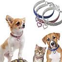 baratos Colares, Coleiras e Peitorais para Cães-Cachorros Colarinho Colar Tamanho Ajustável Decoração Coração Liga Branco Azul Rosa claro