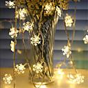 Χαμηλού Κόστους LED Φωτολωρίδες-1.5m νιφάδα χιονιού φανάρια 10 λυχνίες ζεστό λευκό / rgb / λευκό Χριστούγεννα νέο έτος σπίτι διακοσμητικά aa μπαταρίες powered 1set
