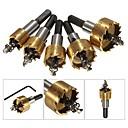 povoljno Pribor za električne alate-5pcs karbidnih dijelova na vrhu dijelovi bušilica set metal drvo bušenje rupa alat za rezanje za ugradnju brave 16mm / 18.5mm 20mm / 25mm / 30mm