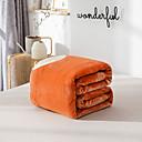 billige Tepper og pledd-Sengetepper / Sofa kaste / Multifunksjonelle tepper, Ensfarget / Blomstret / Enkel Flanell Fleece Varmer Myk comfy tepper