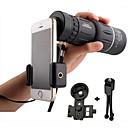 baratos Microscópios & Endoscópios-16x52 alta potência hd lente do telescópio monocular duplo foco prisma de foco com visão noturna inclui montagem universal smartphone e tripé impermeável à prova de neblina 16x zoom compacto para