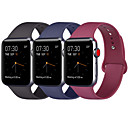 cheap Wireless Chargers-3pcs Compatible Apple Watch Band 38mm 40mm 42mm 44mm Women Men Soft Silicone Replacement Bands Strap for iWatch Apple Watch Series 4 Series 3 Series 2 Series 1