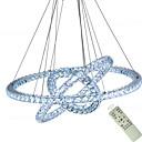 billiga Cirkeldesign-populär diamantring led kristall hänge ljus moderna led kretsar ljuskronor lampor hängande lampa foajé matsal belysning hem dekoration 110-120v / 220-240v