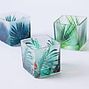 billige Sykkellykter og reflekser-forlater fargeutskrift glass lysestake skrivebord dekorasjon bryllup dekorasjon