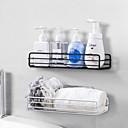 זול דלת חומרה & מנעולים-אמבטיה מדף מקלחת מדף ג'ל מדף אסלה שירותים חינם ניקוב סל כביסה