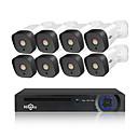 זול ערכות NVR-heeeu 8ch 1080p poe nvr cctv מערכת אבטחה 4pcs 2.0mp אודיו להקליט ip מצלמה ir p2p בחוץ מעקב וידאו Kit 1tb hdd