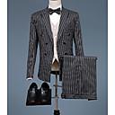זול חליפות רטובות,חליפות צלילה וחולצות ראש-גארד-בגדי ריקוד גברים כחול נייבי אפור L XL XXL חליפות פסים רזה