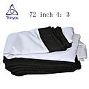 זול אביזרים למקרנים-4:3 72 אִינְטשׁ PVC מאקס לבן מסך על מעמד מהקיר