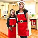 billiga Julpynt-julförkläde kvinna man röda mjuka eleganta kök klänningar restaurang kök förkläden