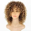 Χαμηλού Κόστους Χωρίς κάλυμμα-Συνθετικές Περούκες Afro Afro Kinky Με αφέλειες Περούκα Κοντό Ξανθό Φράουλας Συνθετικά μαλλιά 15 inch Γυναικεία Γυναικεία Όμπρε Περούκα αφροαμερικανικό στυλ Ανοικτό Καφέ / Για μαύρες γυναίκες