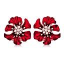 povoljno Modne naušnice-Žene Sitne naušnice Naušnica Cvijet Jednostavan Europska slatko Moda Elegantno Imitacija dijamanta Naušnice Jewelry Crvena Za Party Dar Dnevno Spoj Izlasci 1 par