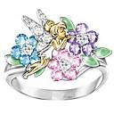 ราคาถูก แหวนผู้ชาย-สำหรับผู้หญิง คำชี้แจง Ring แหวน Cubic Zirconia 1pc สายรุ้ง เพชรพลอยและคริสตัล ทองแดง Geometric Shape Stylish ความหรูหรา ปาร์ตี้ ของขวัญ เครื่องประดับ Flower เท่ห์