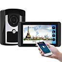 olcso Videó kaputelefonok-618fc11 7 hüvelykes kapacitív érintőképernyős videokamera vezetékes video ajtócsengő wifi / 3g / 4g távoli hívás feloldása tároló vizuális intercom egyről egyet