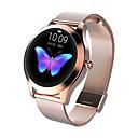 baratos Ferragens para Portas e Fechaduras-Kw10 smart watch bt rastreador de fitness suporte notificar / monitor de freqüência cardíaca esporte aço inoxidável bluetooth smartwatch compatível ios / android phones