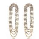 povoljno Tote torbe-Žene Viseće naušnice Naušnica Rese Luksuz Europska Elegantno Imitacija dijamanta Naušnice Jewelry Zlato / Pink Za Vjenčanje godišnjica Angažman Dar Dnevno 1 par