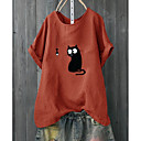 billiga Moderingar-Djur Bomull T-shirt Dam Vit