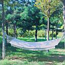 Χαμηλού Κόστους Μοτοσυκλέτα & Εξαρτήματα ATV-Κούνια κάμπινγκ Εξωτερική Γρήγορο Στέγνωμα Διακοσμητικό ρυθμιζόμενη Ευέλικτη Κάνναβη Καθαρό βαμβάκι με Carabiners και Strips Tree για 1 άτομο Λευκό 200*80 cm