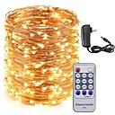 ราคาถูก สายไฟ LED-กิโลวัตต์ 50 เมตร led เชือกลวดทองแดง 500 leds ไฟเต็มไปด้วยดวงดาวและ 12 โวลต์อะแดปเตอร์ 3a และการควบคุมระยะไกลคริสต์มาสวันหยุด